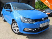 USED 2015 15 VOLKSWAGEN POLO 1.2 SE TSI 3d 89 BHP RAC INSPECTED, ALLOYS, AIR CON, LOW MILES, FULL SERVICE HISTORY, SPARE KEY