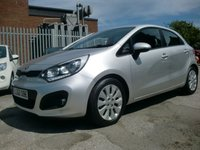 USED 2012 62 KIA RIO 1.4 CRDI 2 ECODYNAMICS 5d 88 BHP £20 PER YEAR ROAD TAX 1 FORMER KEEPER FROM NEW