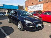 USED 2014 64 PEUGEOT 308 1.6 HDI ACTIVE 5d 92 BHP EXCELLENT FUEL ECONOMY!!..LOW CO2 EMISSIONS(93G/KM)...£0 ROAD TAX!!..FULL PEUGEOT SERVICE HISTORY...PEUGEOT WARRANTY!!..ONLY 8875 MILES FROM NEW!!