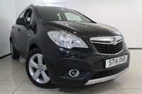 USED 2014 14 VAUXHALL MOKKA 1.6 EXCLUSIV S/S 5DR 113 BHP FULL SERVICE HISTORY + 0% FINANCE AVAILABLE T&C'S APPLY + CLIMATE CONTROL + BLUETOOTH + CRUISE CONTROL + MULTI FUNCTION WHEEL + 18 INCH ALLOY WHEELS