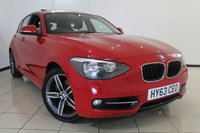 USED 2013 63 BMW 1 SERIES 1.6 118I SPORT 5DR 168 BHP SERVICE HISTORY + PARKING SENSOR + 0% FINANCE AVAILABLE T&C'S APPLY + BLUETOOTH + ELECTRIC SUNROOF + CRUISE CONTROL + 17 INCH ALLOY WHEELS