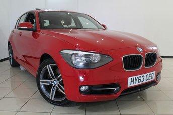 2013 BMW 1 SERIES 1.6 118I SPORT 5DR 168 BHP £11470.00