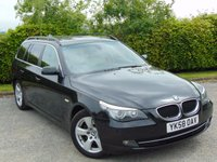 USED 2008 58 BMW 5 SERIES 2.0 520D SE TOURING 5d * DEISEL * 6 SPEED MANUAL GEARBOX * FULL HEATED LEATHER INTERIOR *