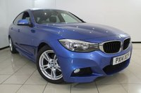 USED 2014 14 BMW 3 SERIES 2.0 318D M SPORT GRAN TURISMO 5DR 141 BHP FULL BMW SERVICE HISTORY + HEATED LEATHER SEATS + 0% FINANCE AVAILABLE T&C'S APPLY + AIR CONDITIONING + PARKING SENSOR + MULTI FUNCTION WHEEL + RADIO/CD + 18 INCH ALLOY WHEELS