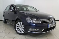 USED 2013 13 VOLKSWAGEN PASSAT 2.0 HIGHLINE TDI BLUEMOTION TECHNOLOGY 4DR 139 BHP SERVICE HISTORY + 0% FINANCE AVAILABLE T&C'S APPLY + SAT NAVIGATION + BLUETOOTH + CRUISE CONTROL + MULTI FUNCTION WHEEL