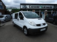 2011 RENAULT TRAFIC 2.0 LL29 DCI 6 SEATER CREW CAB VAN WITH FSH  115 BHP SAT NAV CHOICE £8995.00