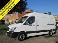 USED 2015 15 MERCEDES-BENZ SPRINTER 2.1 313CDI MWB HIGH ROOF. VERY LOW 45,000 MILES. FACELIFT MODEL. 1 OWNER. LOW RATE FINANCE. PX WELCOME. FSH.