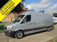USED 2015 15 MERCEDES-BENZ SPRINTER 2.1 313CDI LWB HIGH ROOF. METALLIC SILVER. ONLY 56K. FSH. 1 OWNER 1 OWNER. FSH. LOW RATE FINANCE. BIG SPEC. PX WELCOME