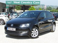 USED 2013 63 VOLKSWAGEN POLO 1.2 MATCH EDITION 5d 69 BHP Great Spec, Refined City Car