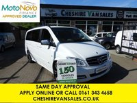 USED 2013 63 MERCEDES-BENZ VIANO 3.0 122 CDI NAV FULL LEATHER AVANTGARDE  AUTO 224 BHP CHOICE OF 2  SAT NAV FRONT AND REAR A/C FULL LEATHER