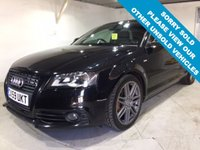 USED 2009 59 AUDI A3 2.0 TDI S LINE BLACK EDITION 3d 138 BHP Timing belt kit replaced in Jan 2016,     Part leather upholstery,     Audi Concert sound system with BOSE speakers,     Rear parking sensors,     18-inch alloy wheels