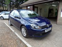 USED 2012 12 VOLKSWAGEN GOLF 1.6 MATCH TDI BLUEMOTION TECHNOLOGY 5d 103 BHP FULL VOLKSWAGEN SERVICE HISTORY, 2 KEYS, AUX CONNECTION, CRUISE CONTROL, £20 A YEAR ROAD TAX, DAB RADIO, FRONT AND REAR PARKING SENSORS