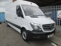 2015 MERCEDES-BENZ SPRINTER 316 CDi LWB High roof *RARE 163 bhp*ONLY 48000 MILES* £15995.00