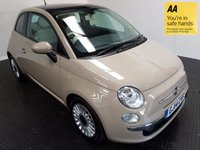 USED 2014 14 FIAT 500 1.2 MULTIJET LOUNGE 3d 95 BHP FSH-1 FORMER OWNER-LEATHER-ALLOYS