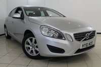 USED 2011 61 VOLVO S60 1.6 DRIVE ES S/S 4DR 113 BHP SERVICE HISTORY + CLIMATE CONTROL + 0% FINANCE AVAILABLE T&C'S APPLY + PARKING SENSOR + BLUETOOTH + MULTI FUNCTION WHEEL + 16 INCH ALLOY WHEELS