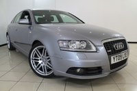 USED 2009 09 AUDI A6 3.0 TDI QUATTRO S LINE LE MANS TDV 4DR AUTOMATIC 229 BHP SERVICE HISTORY + 0% FINANCE AVAILABLE T&C'S APPLY + HEATED LEATHER SEATS + CLIMATE CONTROL + SAT NAVIGATION + PARKING SENSOR + CRUISE CONTROL + MULTI FUNCTION WHEEL + 19 INCH ALLOY WHEELS