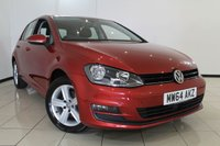 USED 2014 64 VOLKSWAGEN GOLF 1.6 MATCH TDI BLUEMOTION TECHNOLOGY 5DR 103 BHP FULL VW SERVICE HISTORY + 0% FINANCE AVAILABLE T&C'S APPLY + PARKING SENSORS + BLUETOOTH + CRUISE CONTROL + MULTI FUNCTION WHEEL