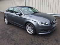 USED 2013 13 AUDI A3 2.0 TDI 148BHP SPORT 5 DOOR SPORTBACK 1 OWNER, FSH, SAT NAV, £20 PER YEAR ROAD TAX