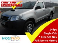 2014 TOYOTA HI-LUX Single Cab ACTIVE 2.5 D-4D 4WD 144ps £11995.00