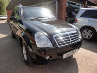 USED 2011 11 SSANGYONG REXTON 2.7 270 S 5d 162 BHP DIESEL IN BLACK APPROVED CARS ARE PLEASED TO OFFER THIS SSANGYONG REXTON 2.7 270 S 5 DOOR 162 BHP DIESEL IN BLACK WITH A FULL SERVICE HISTORY SERVICED AT 10K,19K,30K,40K,50K,60K,69K AND 82K ALL AT A SSANGYONG MAIN DEALER A GREAT VALUE 4X4 AND AN IDEAL TOWING VEHICLE OR FAMILY CAR WITH A NEW MOT.