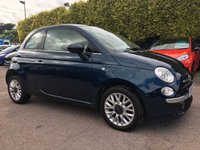 USED 2014 64 FIAT 500 1.2 LOUNGE 3d  STILL WITH FIAT WARRANTY NO DEPOSIT PCP/HP FINANCE ARRANGED, APPLY HERE NOW