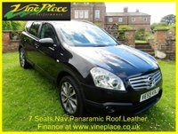 USED 2009 59 NISSAN QASHQAI+2 2.0 TEKNA PLUS 2 DCI 5d 148 BHP 7 SEATS+NAVIGATION+LEATHER+BLUETOOTH+CRUISE+PANORAMIC ROOF+