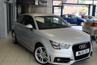 USED 2011 11 AUDI A1 1.4 TFSI S LINE 3d AUTO 122 BHP FULL SERVICE HISTORY + HALF LEATHER SPORT SEATS + BLUETOOTH + 17 INCH ALLOYS + ELECTRIC WINDOWS + AIR CONDITIONING