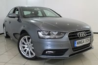 USED 2015 64 AUDI A4 2.0 TDI SE TECHNIK 4DR AUTOMATIC 174 BHP LEATHER SEATS + 0% FINANCE AVAILABLE T&C'S APPLY + SAT NAVIGATION + PARKING SENSOR + BLUETOOTH + CRUISE CONTROL + MULTI FUNCTION WHEEL