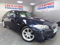 USED 2011 61 BMW 5 SERIES 2.0 520D M SPORT 4d 181 BHP Sat Nav , Full Cream leather Inteior , Bluetooth