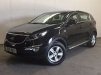 USED 2014 64 KIA SPORTAGE 1.6 1 5d 133 BHP SIDE STEPS MEDIA INTERFACE ONE OWNER FSH FACELIFT MODEL. STUNNING BLACK MET WITH CONTRASTING BLACK CLOTH TRIM. CRUISE CONTROL. SIDE STEPS. 16 INCH ALLOYS. COLOUR CODED TRIMS. BLUETOOTH PREP. CLIMATE CONTROL. TRIP COMPUTER. R/CD/MP3 PLAYER. 6 SPEED MANUAL. MOT 06/18. ONE OWNER FROM NEW. FULL SERVICE HISTORY. PRISTINE CONDITION. FCA FINANCE APPROVED DEALER. TEL 01937 849492
