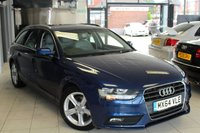 USED 2014 64 AUDI A4 2.0 TDI ULTRA SE TECHNIK 5d 161 BHP FULL AUDI SERVICE HISTORY + FULL LEATHER SEATS + BLUETOOTH + CRUISE CONTROL + DAB RADIO + ELECTRIC TAILGATE + 17 INCH ALLOYS