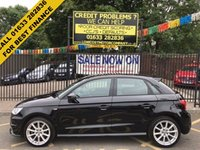 USED 2015 15 AUDI A1 1.6 SPORTBACK TDI S LINE 5d 114 BHP AUDI WARRANTY TILL  17th may 2018. BRILLIANT BLACK WITH SPRINT CLOTH/LEATHER.