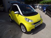 2008 SMART FORTWO 1.0 PASSION 2d AUTO 84 BHP £2695.00