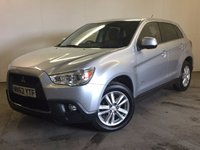 USED 2012 62 MITSUBISHI ASX 1.8 DI-D 4 5d 147 BHP 4WD SAT NAV LEATHER BLUETOOTH CRUISE 4WD. SATELLITE NAVIGATION. STUNNING SILVER MET WITH FULL BLACK LEATHER TRIM. HEATED SEATS. CRUISE CONTROL. 17 INCH ALLOYS. COLOUR CODED TRIMS. PRIVACY GLASS. REVERSING CAMERA. BLUETOOTH PREP. CLIMATE CONTROL. R/CD PLAYER. 6 SPEED MANUAL. MFSW. MOT 06/18. PRISTINE CONDITION. FCA FINANCE APPROVED DEALER. TEL 01937 849492