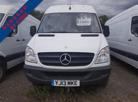USED 2013 13 MERCEDES-BENZ SPRINTER 2.1 313 CDI LWB 1d 129 BHP MERCEDES SPRINTER 13 PLATE PANEL VAN 313 CDI WHITE