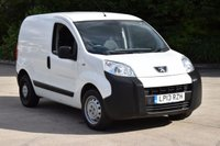 USED 2013 13 PEUGEOT BIPPER 1.2 HDI S 5d 75 BHP SWB FWD DIESEL PANEL MANUAL VAN ONE OWNER FULL S/H SPARE KEY