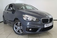 USED 2014 64 BMW 2 SERIES 2.0 218D SPORT ACTIVE TOURER 5DR 148 BHP FULL BMW SERVICE HISTORY + CLIMATE CONTROL + 0% FINANCE AVAILABLE T&C'S APPLY + SAT NAVIGATION + PARKING SENSOR + CRUISE CONTROL + 17 INCH ALLOY WHEELS
