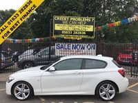 USED 2015 15 BMW 1 SERIES 2.0 125D M SPORT 3d AUTO 215 BHP 1 OWNER, VERY LOW MILEAGE, BMW HISTORY, STUNNING ALPINE WHITE PAINT WORK, LOVELY ALCANTARA SUEDE INTERIOR, M SPORT DOUBLE SPOKE ALLOY WHEELS, AIR CONDITIONING, BLUETOOTH, CD PLAYER