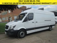 USED 2015 15 MERCEDES-BENZ SPRINTER 2.1 313CDI LWB HIGH ROOF. FACELIFT MODEL ONLY 45K. FSH. 1 OWNER. 13 MONTHS MERC WARRANTY. LOW RATE FINANCE. PX