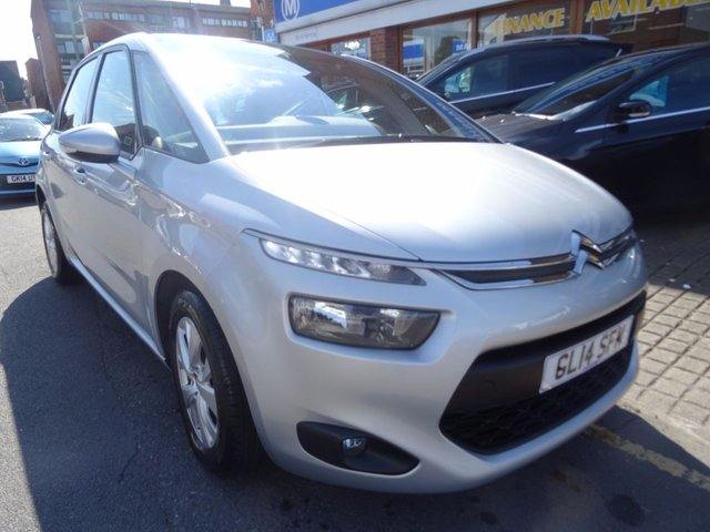 2014 14 CITROEN C4 PICASSO 1.6 E-HDI AIRDREAM VTR PLUS 5d 113 BHP STEEL SILVER/CARBON-GREY TRIM