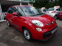USED 2014 14 FIAT 500L 1.4 POP STAR 5d 95 BHP Low Mileage, Full Service History + Just Serviced by ourselves, MOT until March 2018, One Lady Owner from new