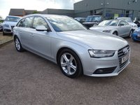 USED 2013 13 AUDI A4 2.0 AVANT TDI SE TECHNIK 5d 134 BHP SERVICE HISTORY 3 KEYS BLACK LEATHER, SATELLITE NAVIGATION, DUAL ZONE CLIMATE CONTROL, CRUISE CONTROL, SIX SPEED MANUAL GEARBOX, AUDI MMI INFOTAINMENT, MULTI FUNCTION LEATHER STEERING WHEEL, ELECTRIC HANDBRAKE, HEATED ELECTRIC DOOR MIRRORS, AUTO HEADLIGHTS, AUTO STOP START, TELEPHONE, ELECTRIC WINDOWS,  ALUMINIUM TRIM, FRONT AND REAR FOGS, COLOUR LCD DISPLAY BETWEEN DIALS, TRIP COMPUTER, FRONT AND REAR PDC, CUP HOLDERS, BOOK PACK, ELECTRIC TAIL GATE, FIVE SPOKE ALLOYS, REAR LOAD COVER,