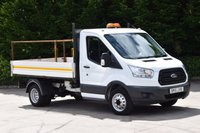 USED 2015 15 FORD TRANSIT 2.2 350 C/C DRW 2d 125 BHP MWB SINGLE CAB EURO 5 DIESEL MANUAL TIPPER ONE OWNER EURO 5, SPARE KEY