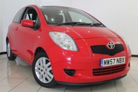 USED 2008 57 TOYOTA YARIS 1.3 TR VVTI 3DR 86 BHP FULL SERVICE HISTORY + 0% FINANCE AVAILABLE T&C'S APPLY + MULTI FUNCTION WHEEL + AIR CONDITIONING + RADIO/CD + 15 INCH ALLOY WHEELS