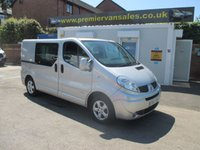 2012 RENAULT TRAFIC 2.0 SL27 SPORT DCI S/R QUICKSHIFT  AUTOMATIC  115 BHP  METALLIC SILVER ONE OWNER FULL MAIN DEALER SERVICE HISTORY   !!! NO VAT !!! £7500.00