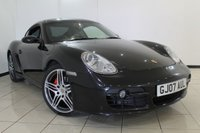 USED 2007 07 PORSCHE CAYMAN 3.4 24V S TIPTRONIC S 2DR AUTOMATIC 295 BHP FULL SERVICE HISTORY + 0% FINANCE AVAILABLE T&C'S APPLY + LEATHER SEATS + CLIMATE CONTROL + SAT NAVIGATION + PARKING SENSORS + BLUETOOTH + 18 INCH ALLOY WHEELS
