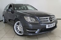 USED 2014 14 MERCEDES-BENZ C CLASS 2.1 C220 CDI BLUEEFFICIENCY AMG SPORT 5DR AUTOMATIC 168 BHP FULL MERCEDES BENZ SERVICE HISTORY + 0% FINANCE AVAILABLE T&C'S APPLY + HALF LEATHER SEATS + SAT NAVIGATION + CLIMATE CONTROL + PARKING SENSORS + BLUETOOTH + MULTI FUNCTION WHEEL + ALLOY WHEELS