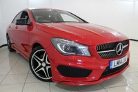 USED 2014 14 MERCEDES-BENZ CLA 2.1 CLA220 CDI AMG SPORT 4DR AUTOMATIC 170 BHP HALF LEATHER SEATS + 0% FINANCE AVAILABLE T&C'S APPLY + CLIMATE CONTROL + SAT NAVIGATION + PARKING SENSORS + BLUETOOTH + CRUISE CONTROL + MULTI FUNCTION WHEEL