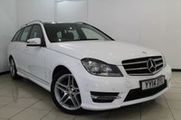 USED 2014 14 MERCEDES-BENZ C CLASS 2.1 C250 CDI AMG SPORT EDITION PREMIUM PLUS 5DR AUTOMATIC 202 BHP FULL MERCEDES BENZ SERVICE HISTORY + 0% FINANCE AVAILABLE T&C'S APPLY + HEATED HALF LEATHER SEATS + REVERSE CAMERA + SAT NAVIGATION + DOUBLE SUNROOF + BLUETOOTH