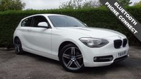 USED 2014 14 BMW 1 SERIES 2.0 116D SPORT 3d 114 BHP, WHITE, DIESEL, MANUAL 6 Month PREMIUM Cover Warranty - 12 Month MOT (No Advs)